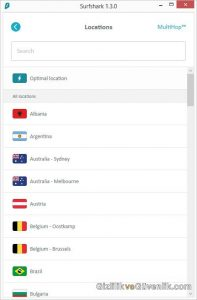 surfshark VPN sunucusu seçebilirsiniz