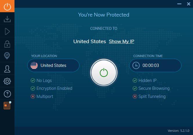 ivacy vpn arayüzü