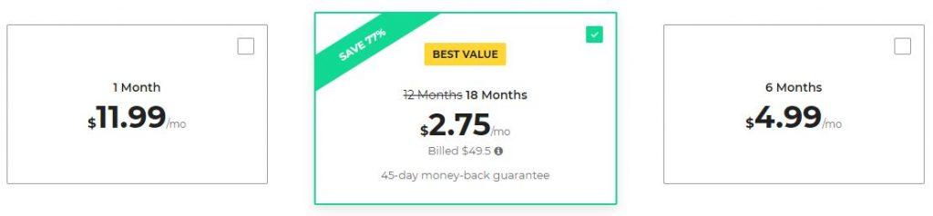 Cyber Ghost VPN: Paketler ve fiyat 2018
