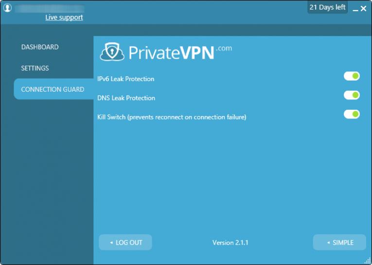 privatevpn bağlantı koruması